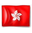 Flag of Hongkong Vector Image