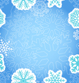 Blue Christmas greeting background vector image vector image