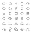 30 cloud computing line icons vector image