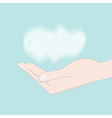 Hand holding cloud vector image