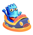 A bumpcar with a blue monster vector image