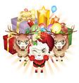 Christmas Sheeping vector image vector image