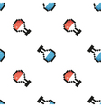 Pixel bottles seamless pattern background vector image