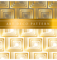 white and gold square seamless pattern in ar deco vector image