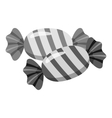 Candy icon gray monochrome style vector image
