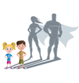 Kids Superhero Concept 2 vector image