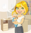 Pretty business mom vector image
