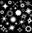 sparkles white symbols vector image