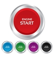 Start engine sign icon Power button vector image