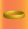 three-dimensional gold ring horizontally on an vector image