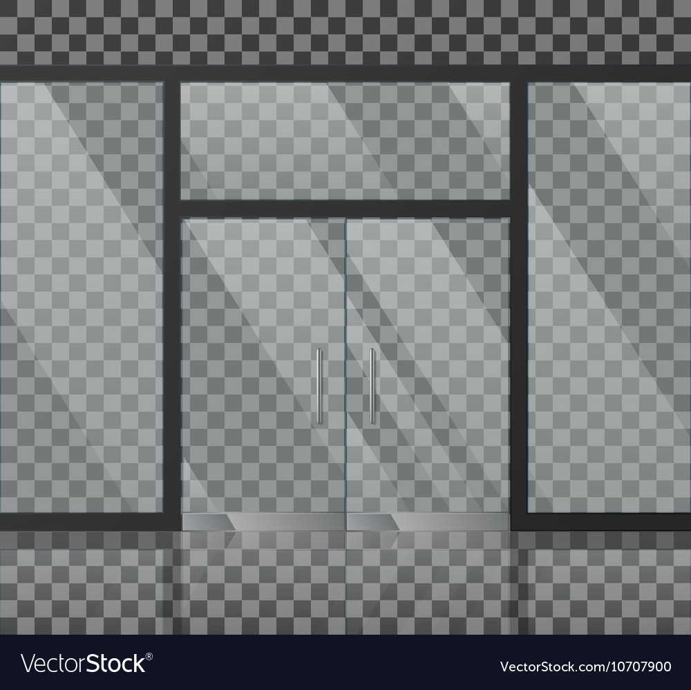 Glass store facade vector