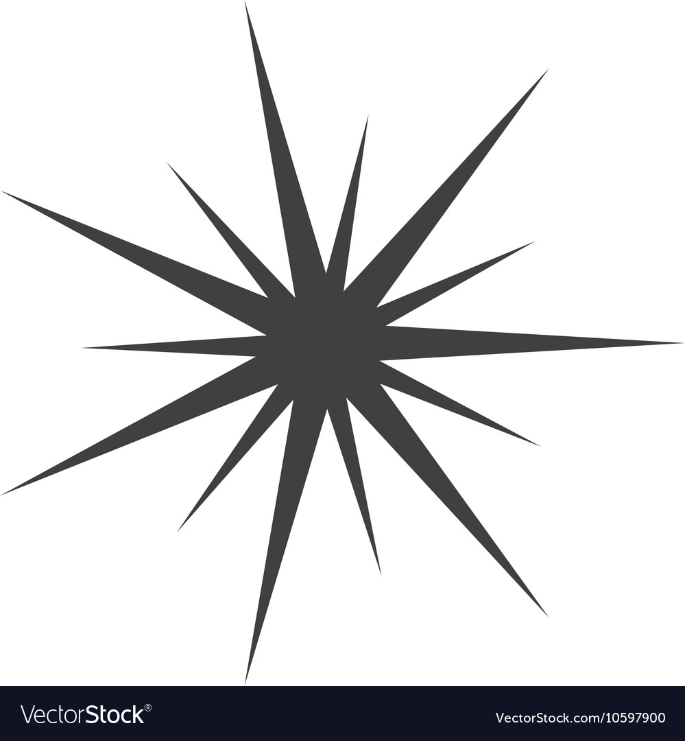 Star manger david silhouette vector