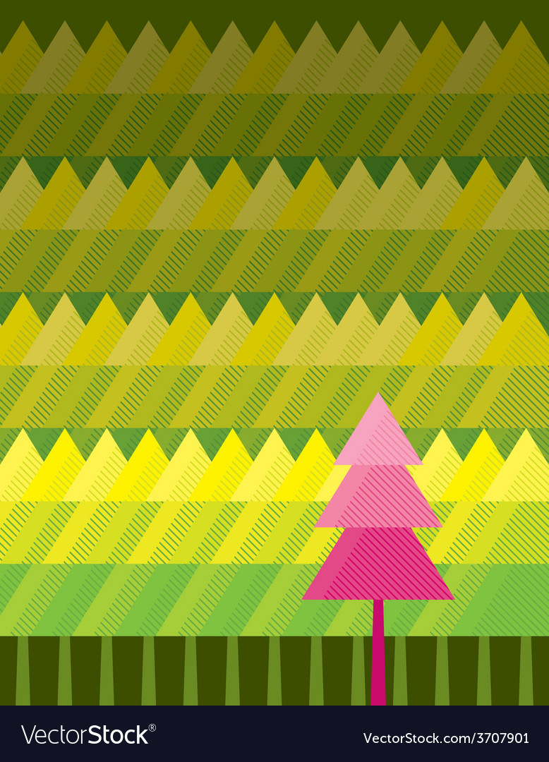 Outstanding tree background vector