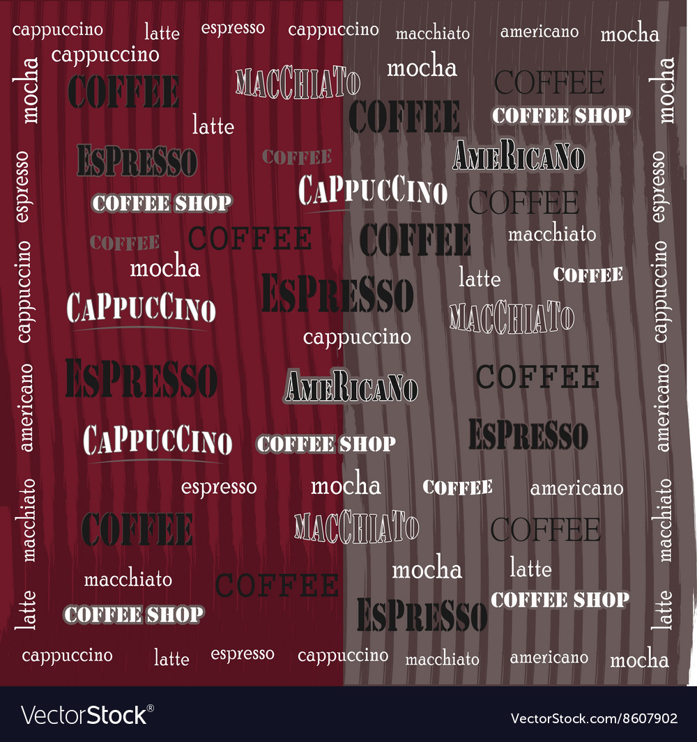 Coffee wallpaper red brown grange vector