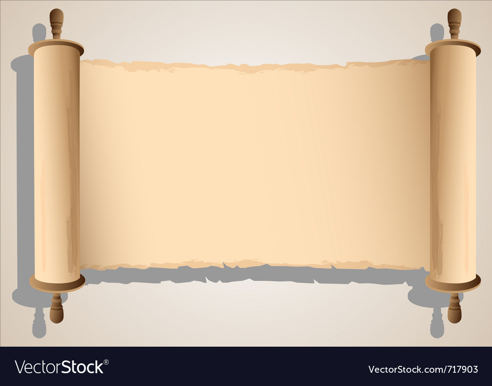 Old scroll banner vector