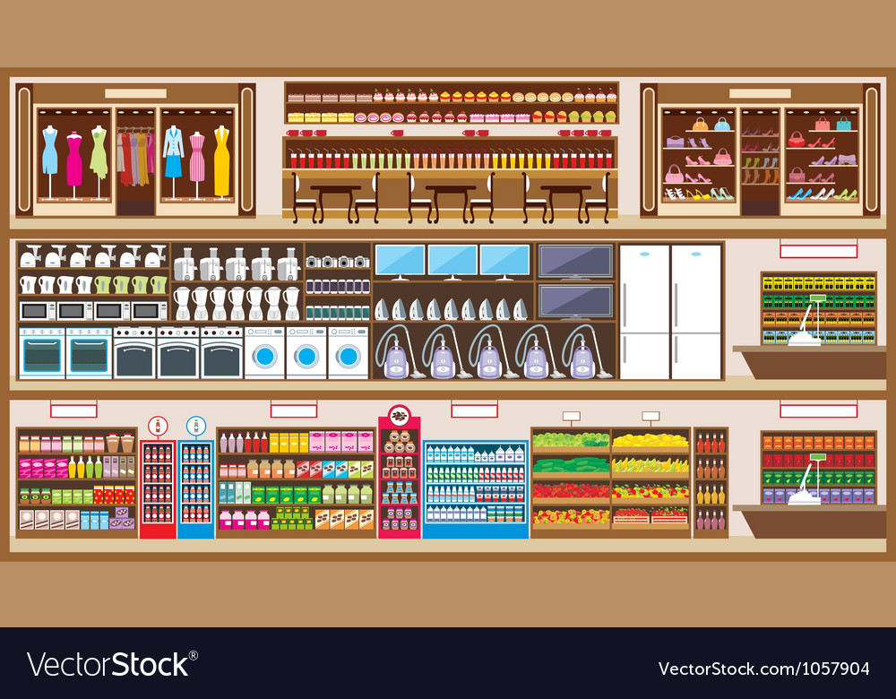 Shopping center vector