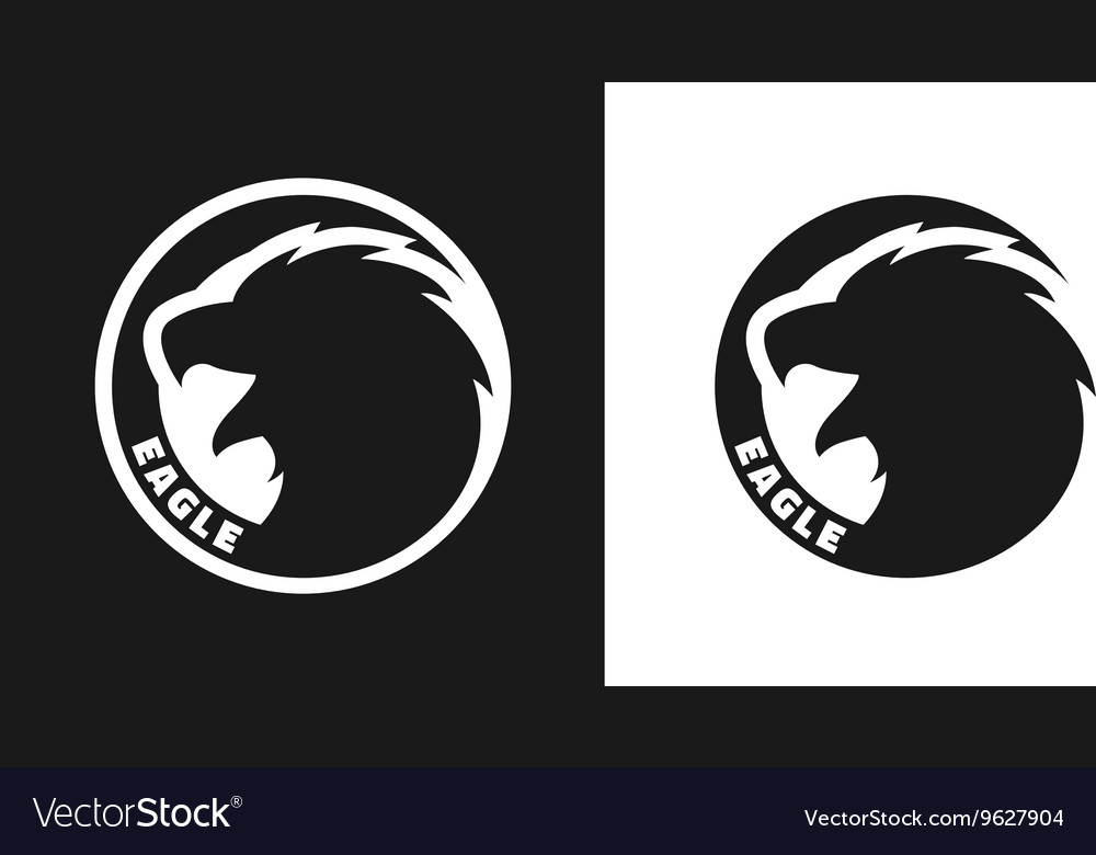 Silhouette of an eagle monochrome logo vector
