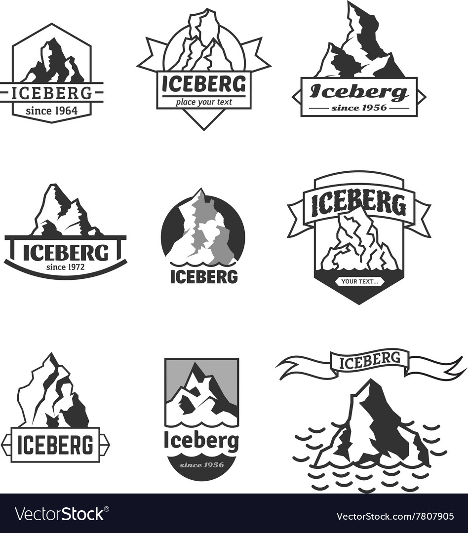 Iceberg logo set vector