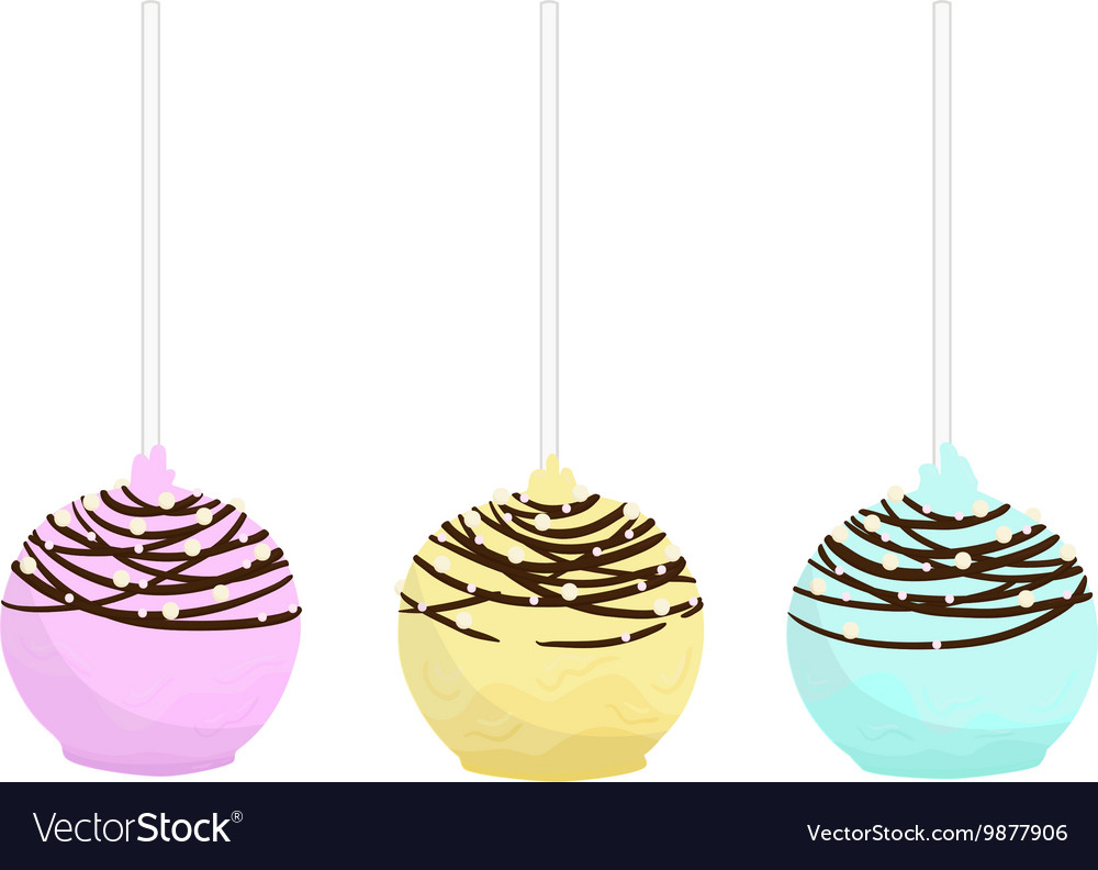 Color cake pops vector