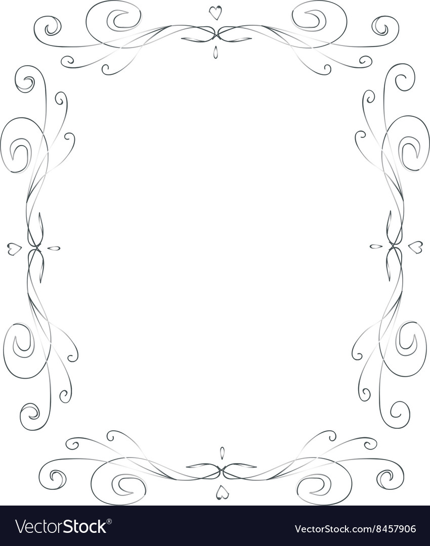 Romantic vintage frames vector
