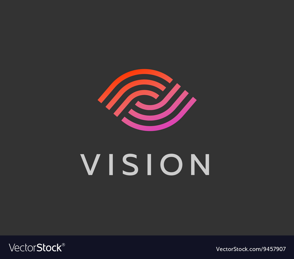 Eye logo symbol design creative camera media icon vector
