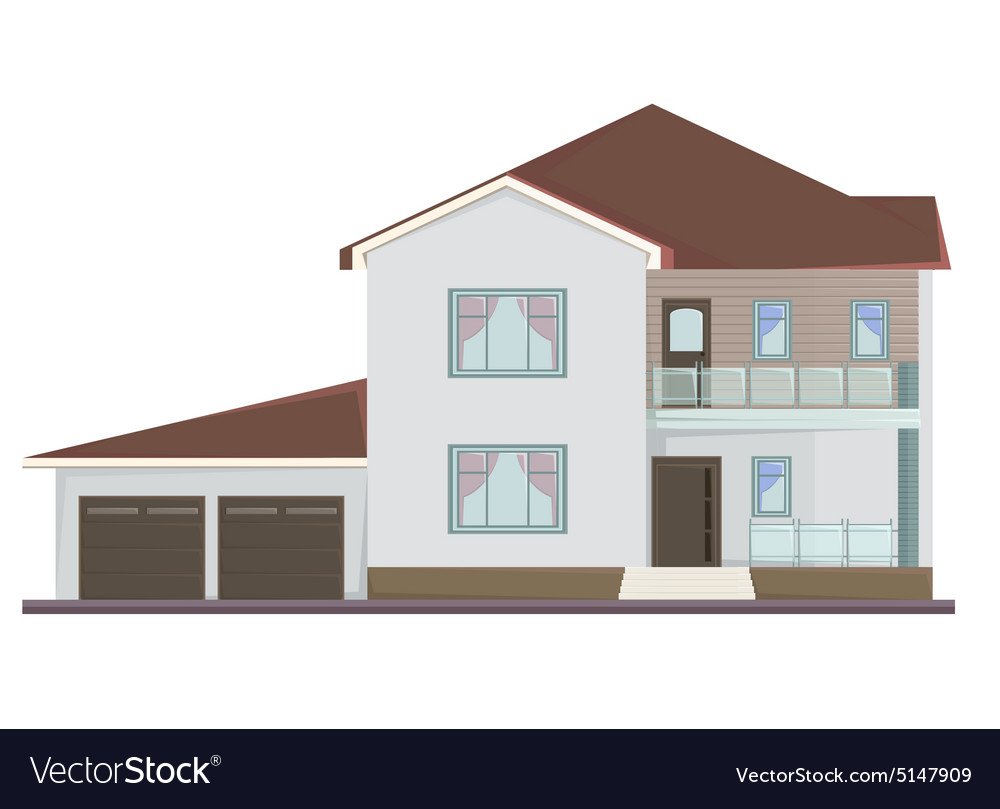 Picture of two floor house vector