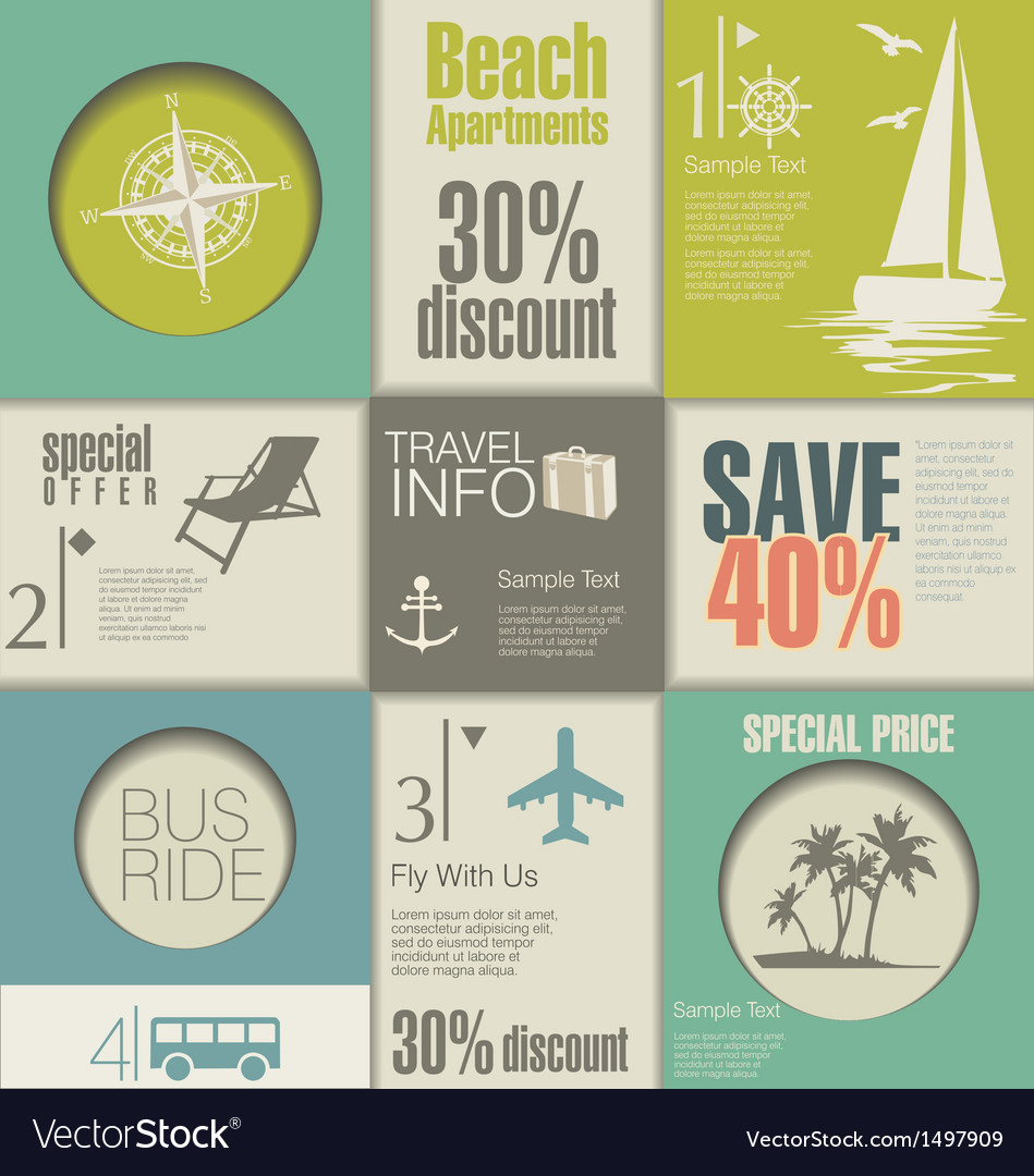 Travel modern design template vector
