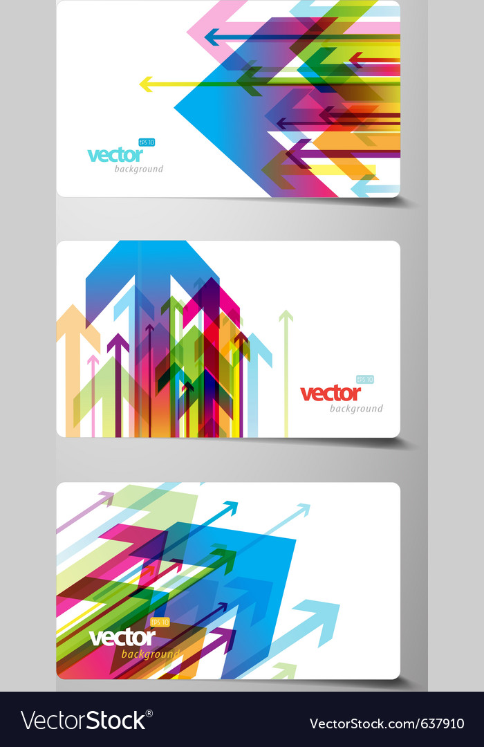 Set of gift cards with arrows vector