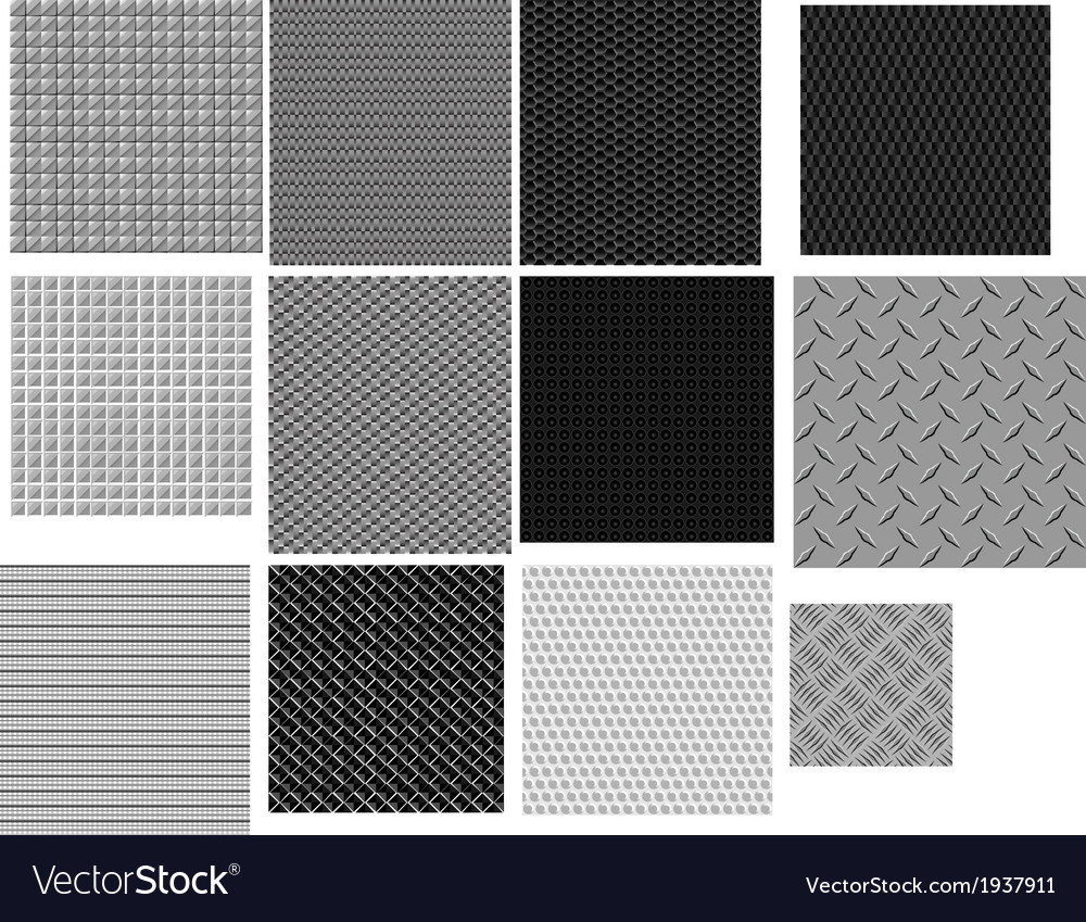 12 carbon and metal patterns vector