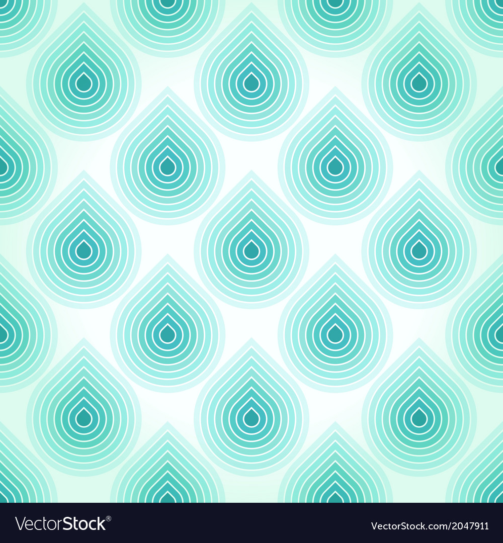 Seamless blue abstract pattern with falling water vector