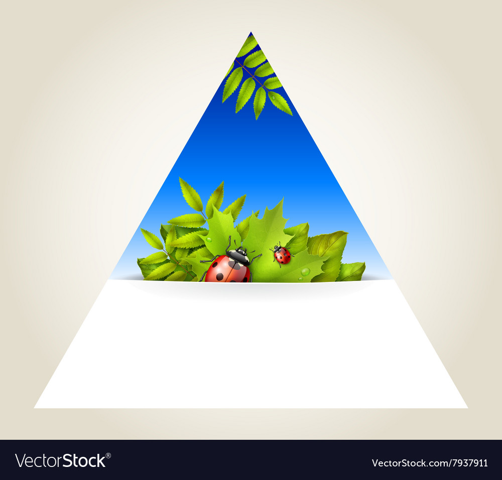 Triangular spring background vector