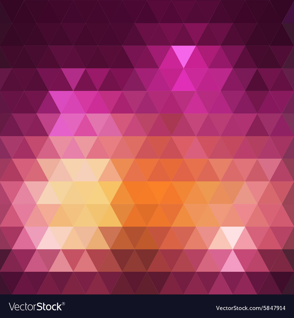 Geometric colorful triangle background vector