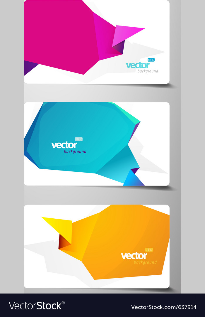 Set of speech bubbles incorporated in gift cards vector