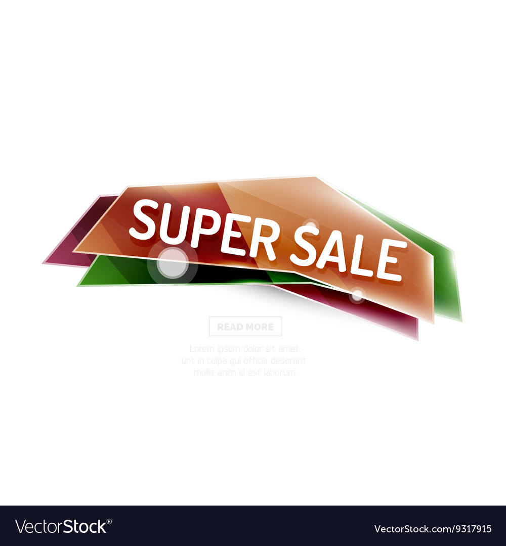 Colorful sale banner vector