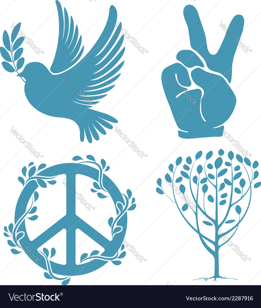 Peace set vector