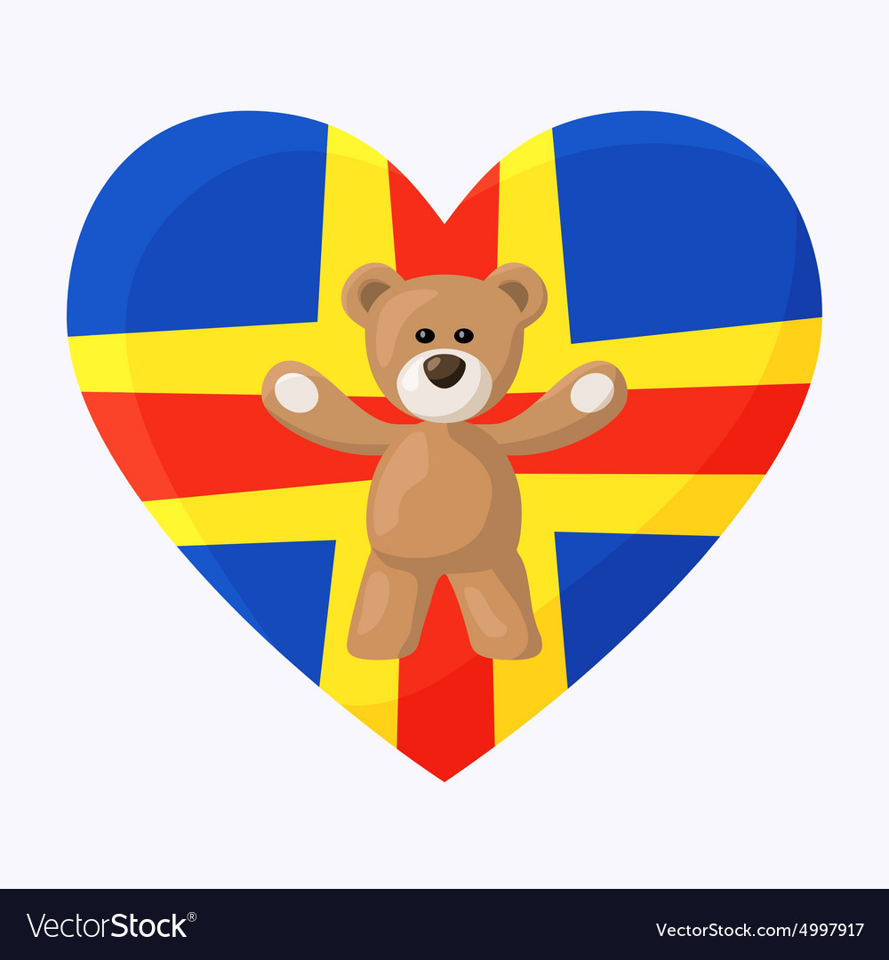 Aland teddy bears vector