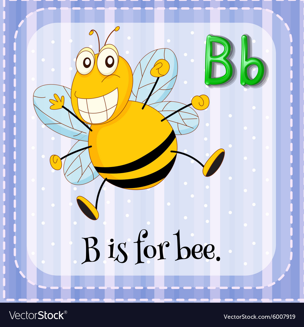 Letter b is for bee vector