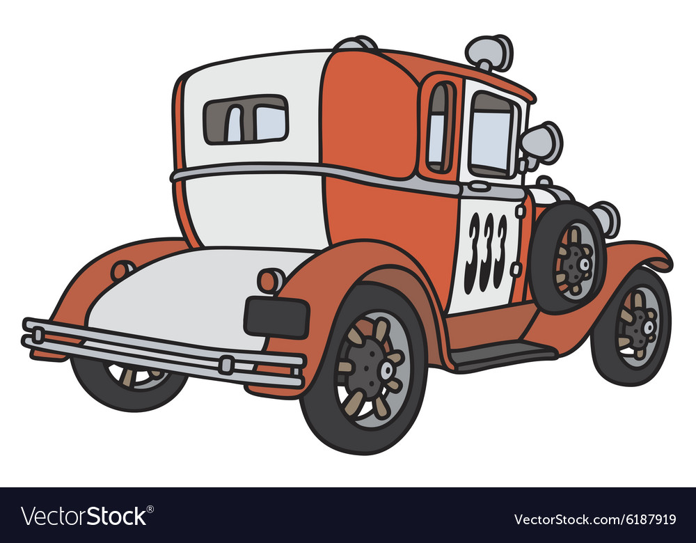 Vintage small firepatrol car vector