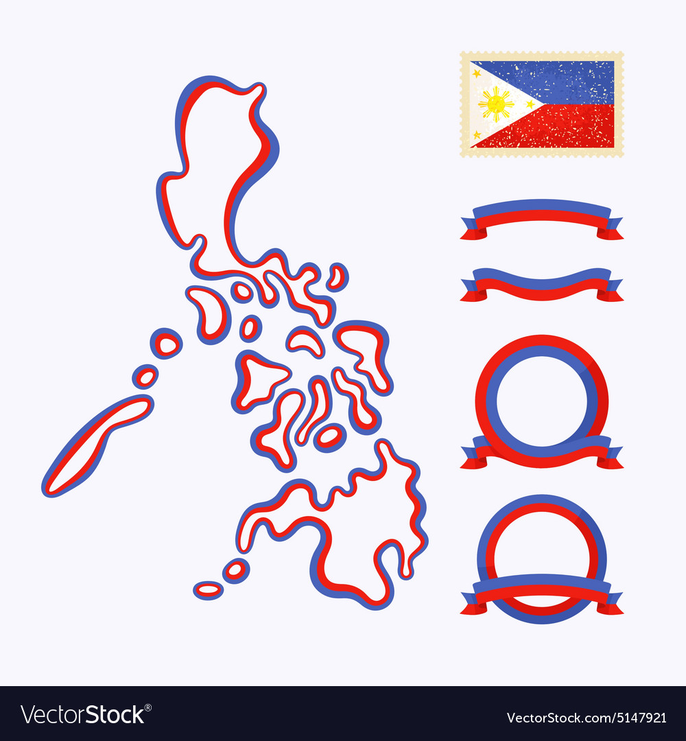 Colors of philippines vector