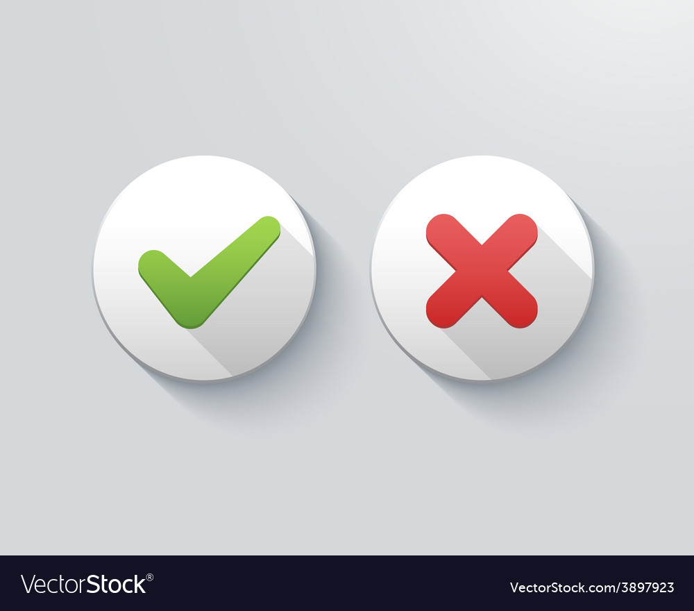 Check marks vector