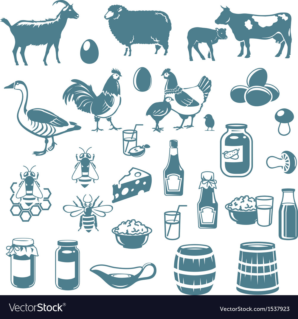 Icon farm vector