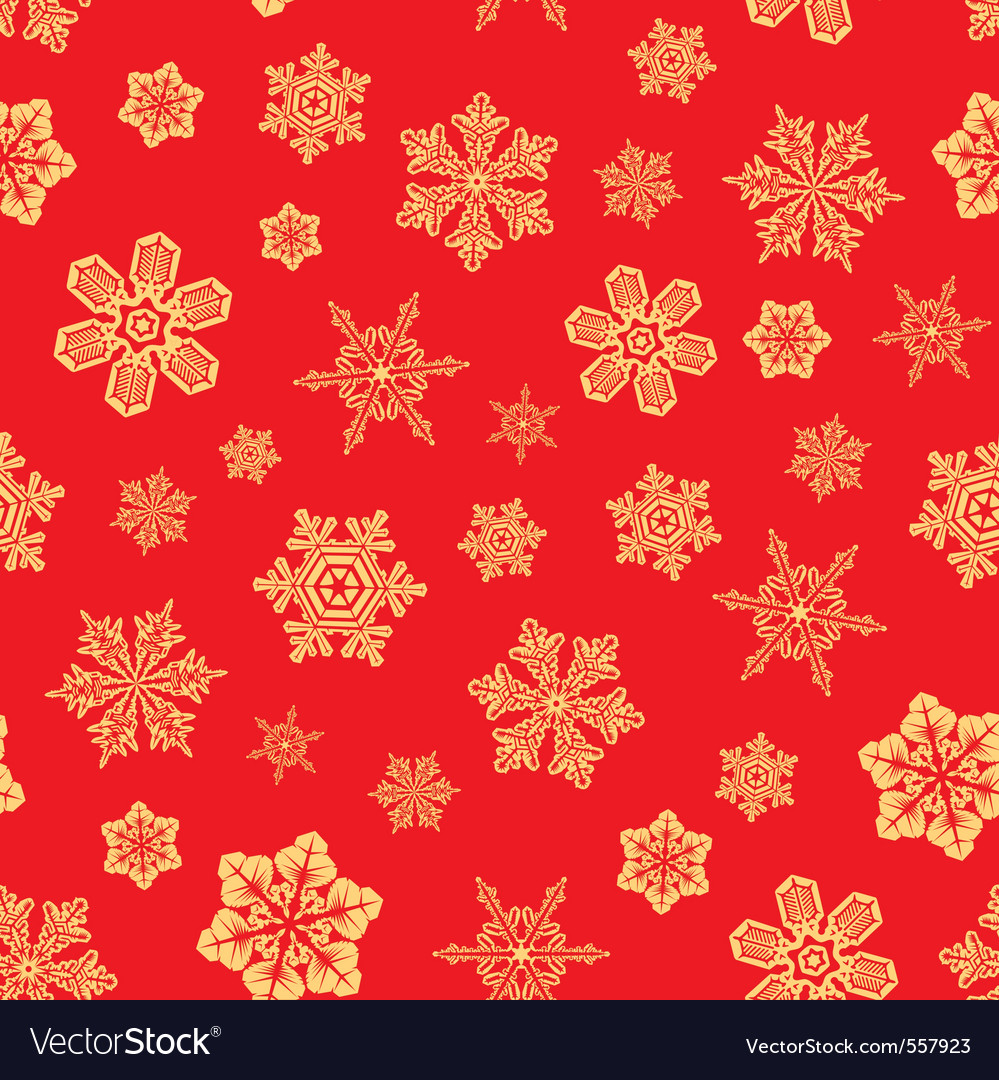 Seamless snwoflakes background vector