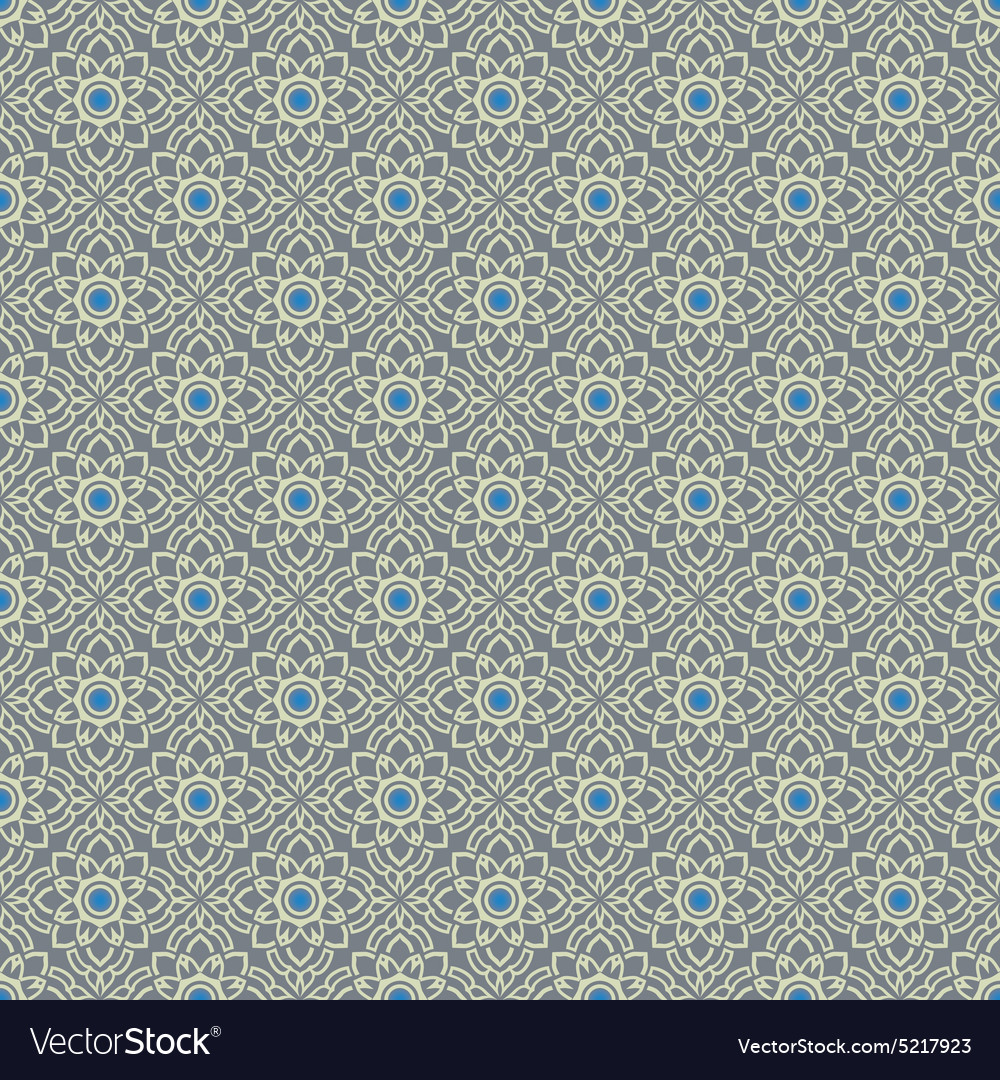 Silver gray vintage seamless wallpaper vector