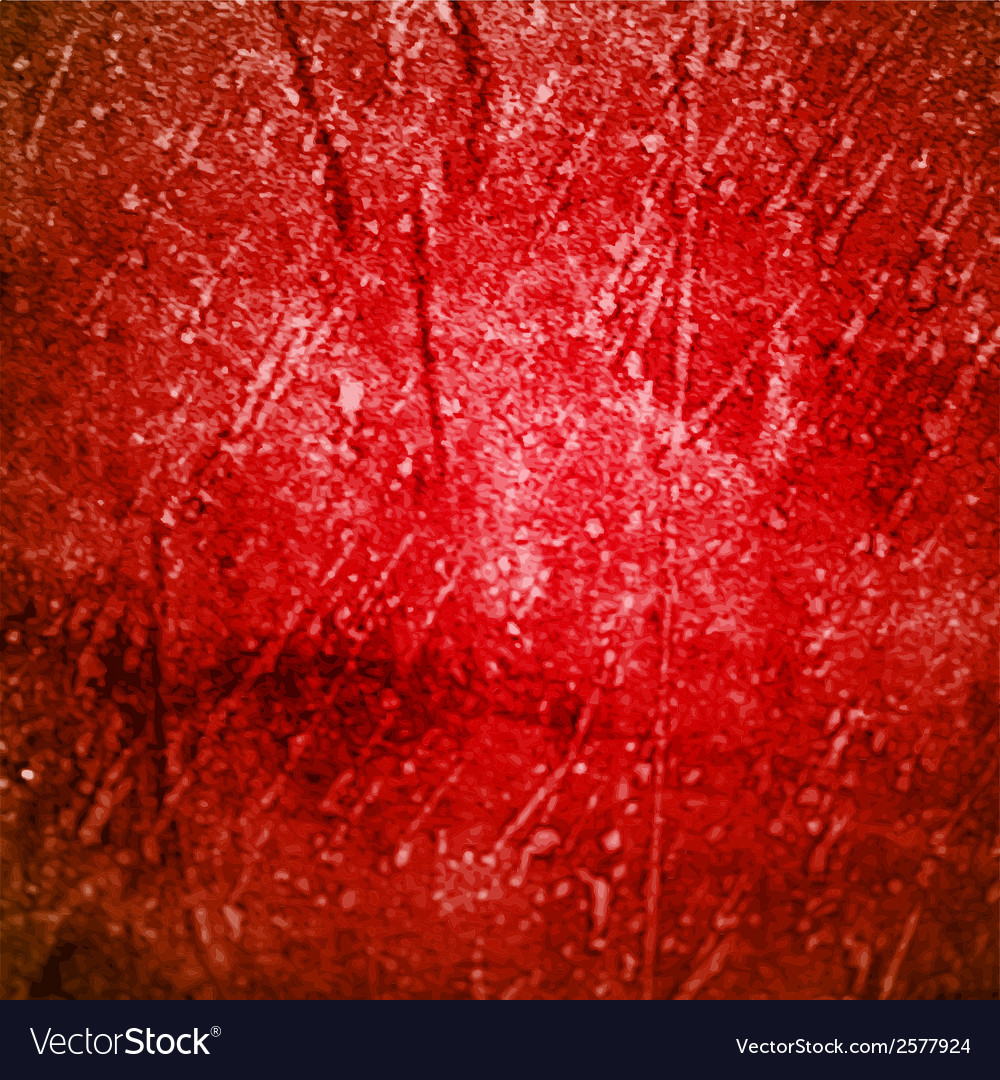 Grunge red background vector