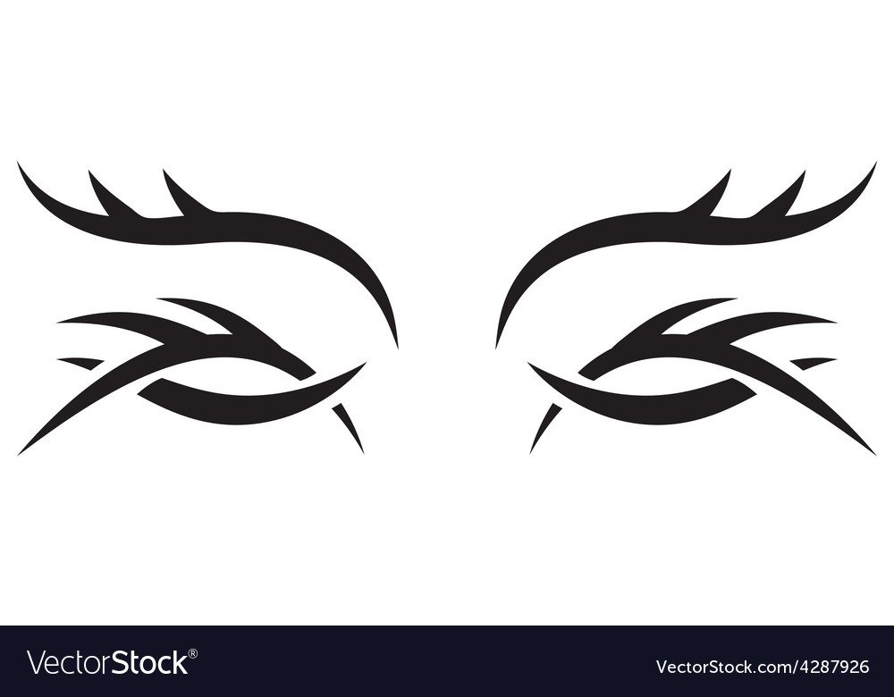 Gothic pattern eyes vector