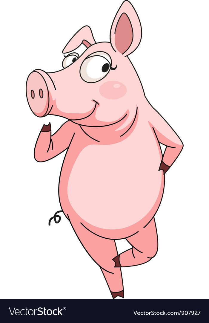 Cheeky pig vector
