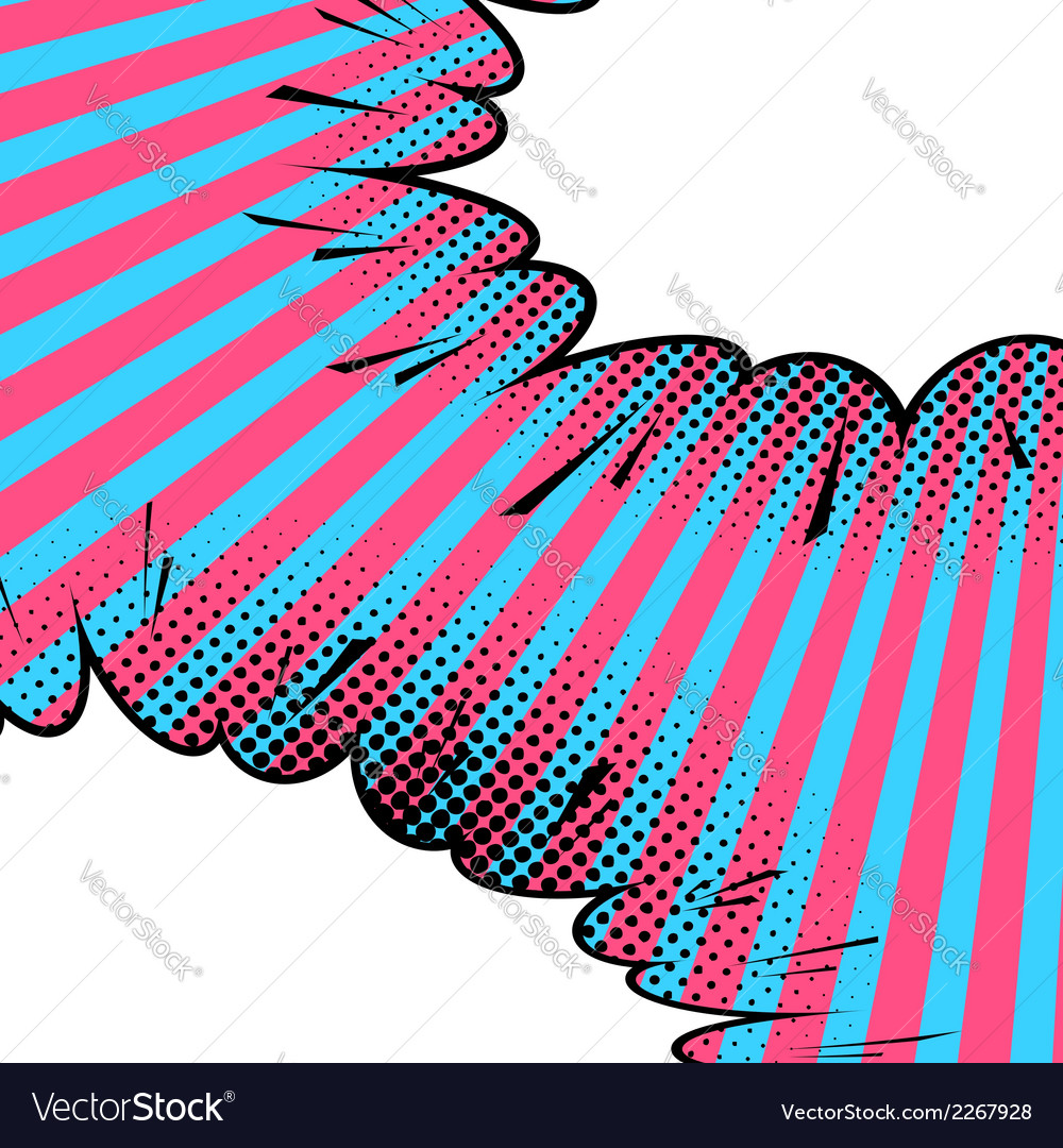 Abstract comic art background vector