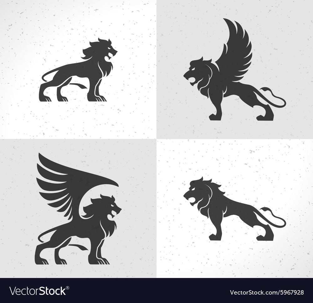 Lion face logo emblem template for business or t vector