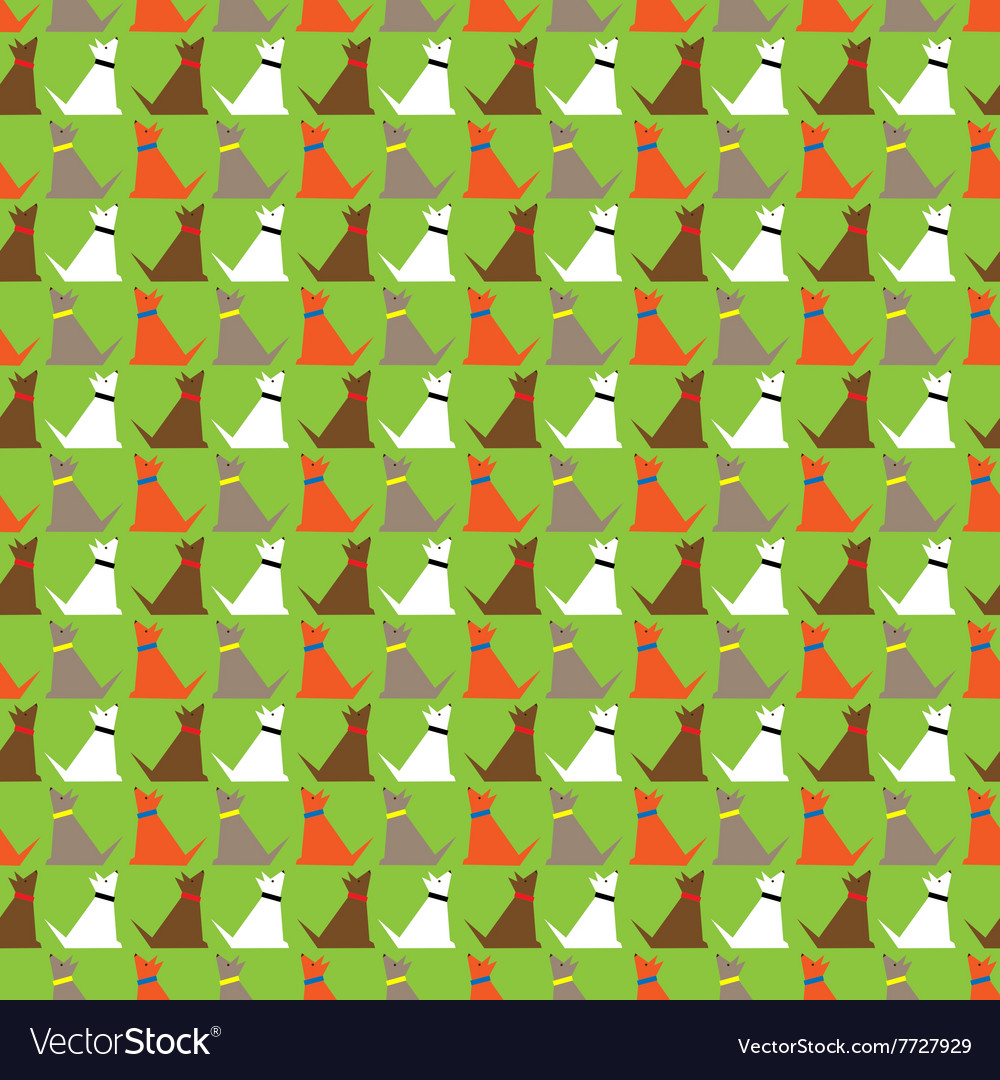 Dogs pattern background vector
