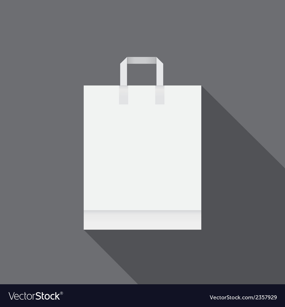 White paper bag for shopping vector